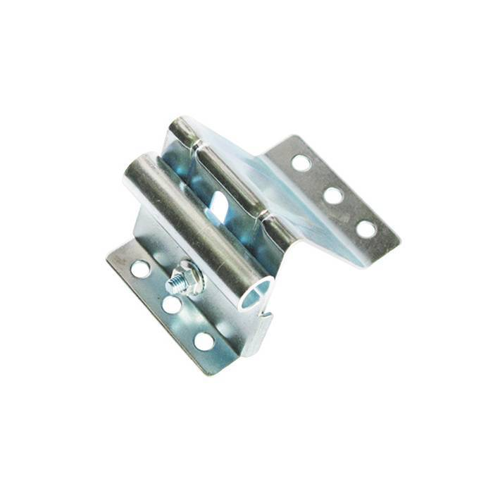 Garage door adjustable top roller Fixture bracket in galvanized steel CH1101