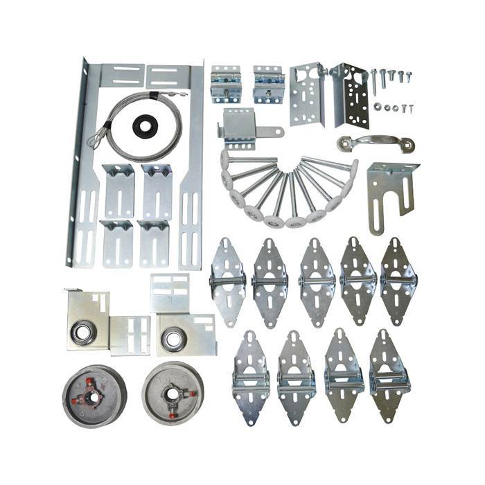 Garage Door Hardware Kit 8x7, 9x7 for 7feet high door one car